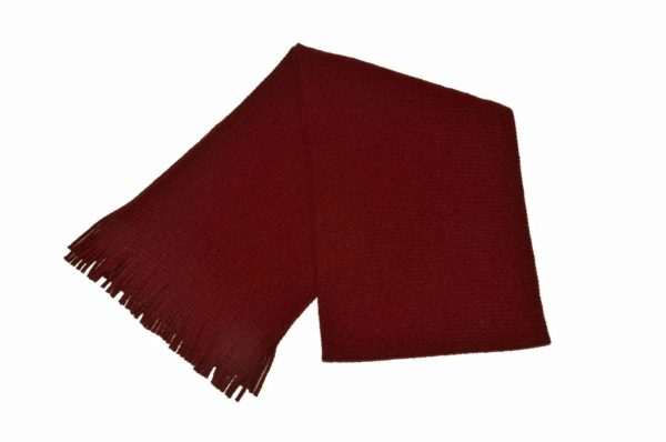 WEBSHOP Scarf Knitted Maroon