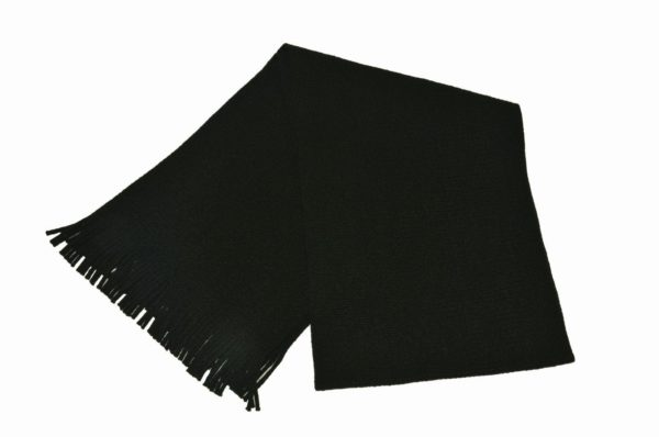 WEBSHOP Scarf Knitted Blk