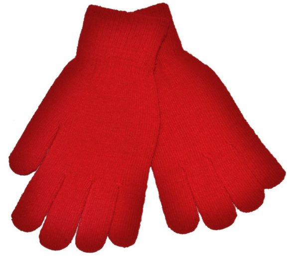 WEBSHOP Gloves Knitted Red
