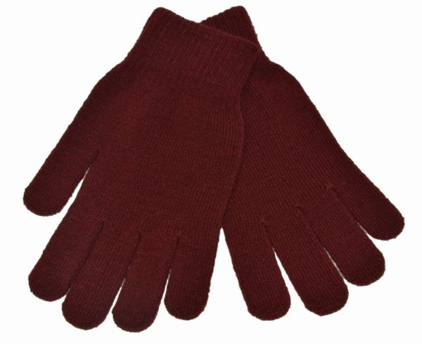 WEBSHOP Gloves Knitted Maroon