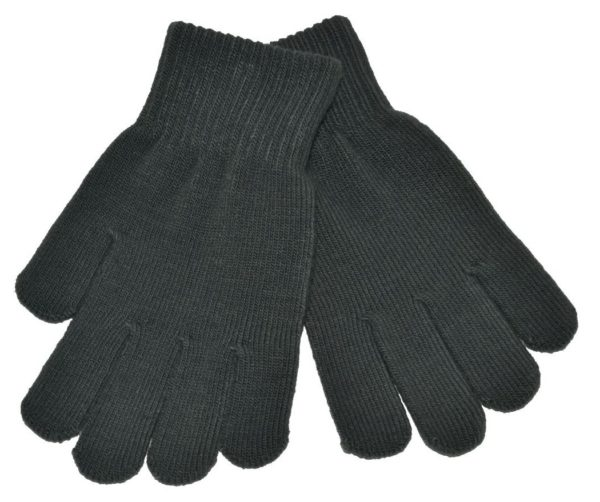 WEBSHOP Gloves Knitted Grey