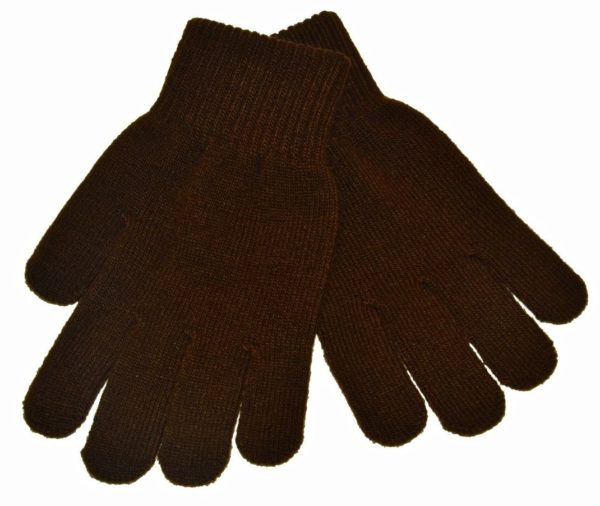 WEBSHOP Gloves Knitted Brown