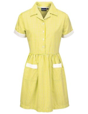 Webshop Gingham Dress - Belt Yel
