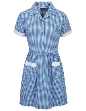 Webshop Gingham Dress - Belt Royal