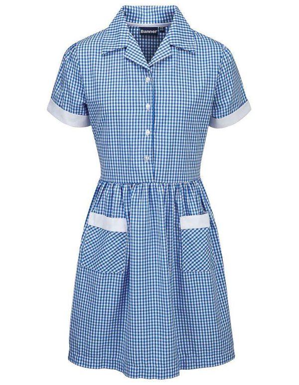 Webshop Gingham Dress - Belt Pink