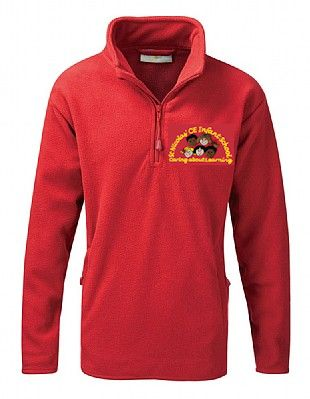 Red Fleece with embroidered St Nicolas School logo